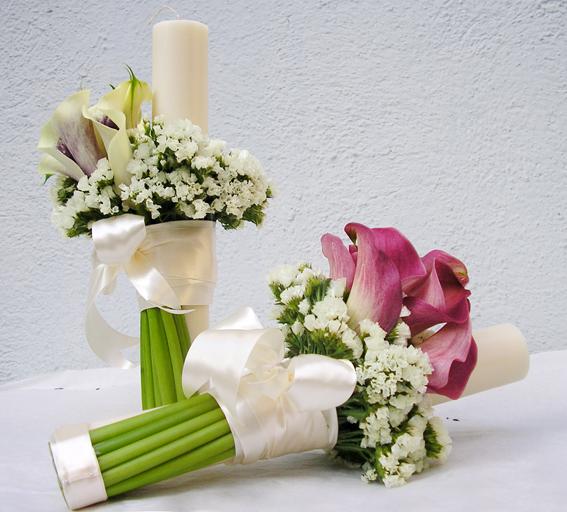 Lumanari de nunta decorative